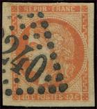 Lot n° 244 -  - 48   40c. orange, oblitéré GC, TB