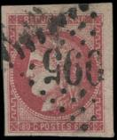 Lot n° 259 -  - 49   80c. rose, oblitéré GC, TB