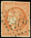 Lot n° 247 -  - 48   40c. orange, oblitéré GC, TB