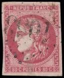 Lot n° 260 -  - 49   80c. rose, oblitéré GC, TB