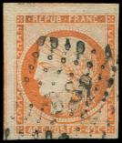 Lot n� 31 -  - 5    40c. orange, 2 grandes marges (3 amorces de voisins) obl. DS2, TB. C
