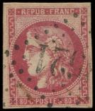 Lot n° 257 -  - 49   80c. rose, oblitéré GC, TB