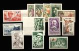 Lot n� 1565 - * - ALGERIE 279/81, 283, 286, 294/95, 303, 307, 309/10 : non dentel�s, TB