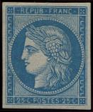 Lot n° 131 - * - R4d  25c. bleu, REIMPRESSION, TB