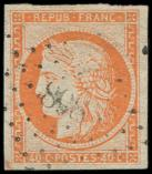 Lot n° 93 -  - 5    40c. orange, obl. PC 898, TB. Br