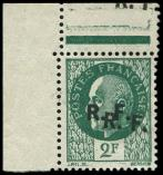Lot n° 2093 - (*) - BORDEAUX 7a : 2f. vert, DOUBLE surcharge, T III, cdf, TB