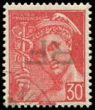 Lot n° 2068 -  - ANGOULEME 2M : 30c. rouge, obl., surch. RENVERSEE, TB