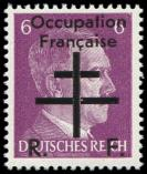 Lot n° 2184 - ** - OCCUPATION FRANCAISE 1 : 6pf. violet, TB