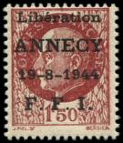 Lot n° 2069 - ** - ANNECY 11 : 1f50 brun-rouge, TB