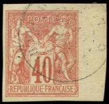 Lot n° 3247 -  - 27   40c. rouge-orange obl. càd SAIGON-INDOCHINE 6/78, TB