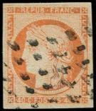 Lot n° 94 -  - 5    40c. orange, obl. GROS POINTS, TB
