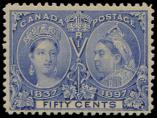 Lot n° 4787 - ** - CANADA 48 : 50c. outremer, TB