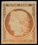 Lot n° 144 - * - R5g  40c. orange, REIMPRESSION, ch. un peu forte, TB