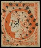 Lot n° 105 -  - 5    40c. orange, oblitéré PC 78, TB. C