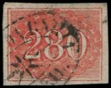 Lot n� 4785 -  - BRESIL 21 : 280r. rouge, obl., TB