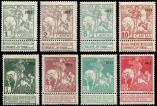 Lot n� 4658 - * - BELGIQUE 92/99 : s�rie compl�te surch. 1911, TB