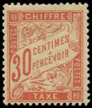 Lot n° 2098 - * - 34  30c. rouge-orange, inf. ch., TB. S