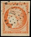Lot n° 102 -  - 5    40c. orange, grandes marges, obl. Los DS2, TTB. C