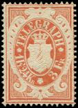Lot n� 4608 - (*) - ALLEMAGNE (ANCIENS ETATS) BAVIERE T�l�graphe 6 : 1Fl.24Kr. orange, TB
