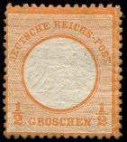 Lot n° 4615 - * - --- EMPIRE 3a : 1/2g. orange, TB