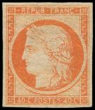Lot n° 99 - * - 5    40c. orange, frais mais forte ch., TB. C