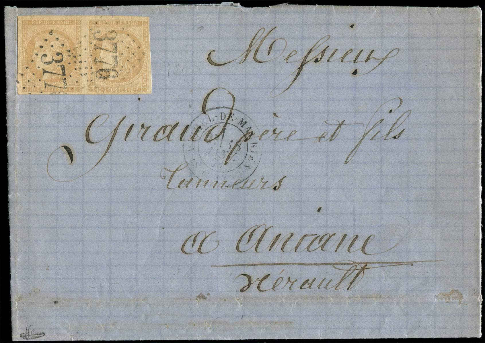 Lot 592 - France emission de bordeaux -  Ceres Philatelie Auction #175