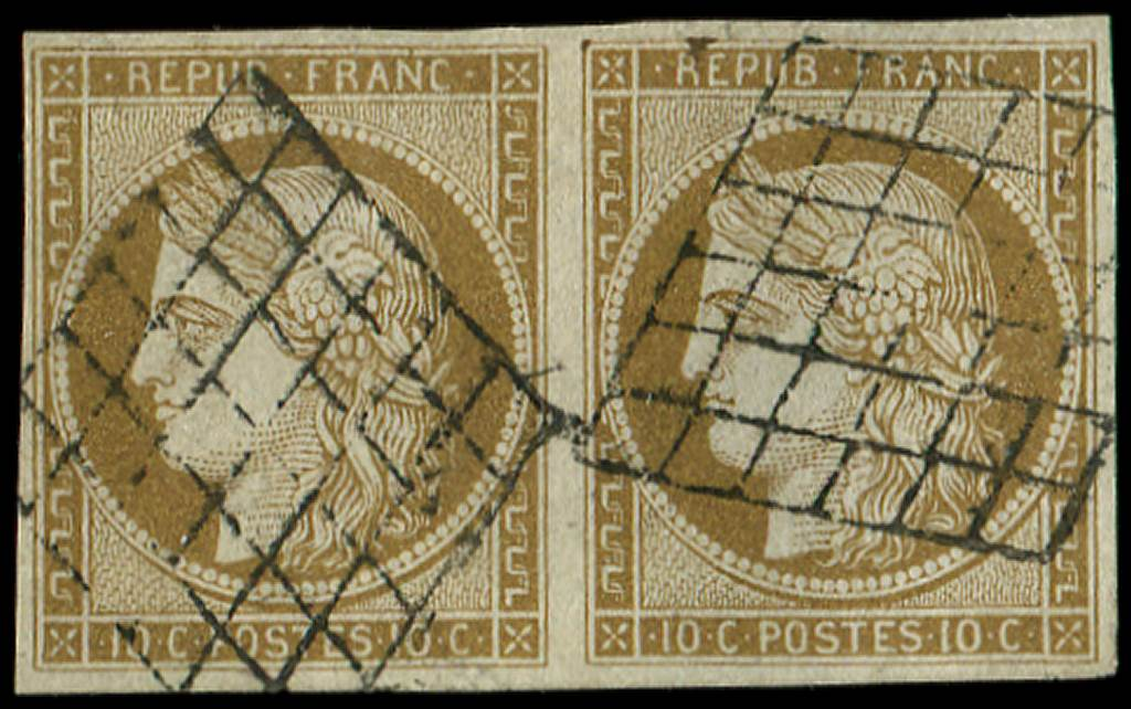 Lot 15 - France emission de 1849 -  Ceres Philatelie Auction #175