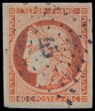 Lot n° 99 -  - 5    40c. orange, grandes marges, obl. PC 45, TTB. C