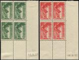 Lot n� 1841 - ** - 354/55 Samothrace, BLOCS de 4 CD, 17 et 16/9/37, 1 t. de chq *, TB