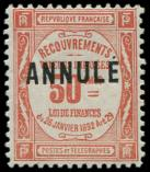 Lot n° 2062 - ** - Taxe 47-CI 1 50c. rouge, surch. ANNULE, TB