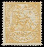 Lot n� 4603 - * - ESPAGNE 147 : 50c. orange, TB