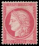 Lot n° 734 - * - 57   80c. rose, bon centrage, forte ch., sinon TB
