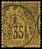 Lot n° 3559 -  - 56   35c. violet sur jaune-orange, obl. càd NOSSI-BE 2/5/90, Superbe