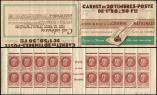 Lot n� 2193 -  - 517-C1    P�tain, 1f.50 brun, n�517, S.63, LOTERIE NATIONALE, 7 points blancs, N�85491 dat� 27/5/42 (partiels), TB