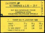 Lot n� 2242 -  - 2614-C5B   Briat, 2,30 rouge, couv. J.O, conf. 7, TB
