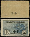 Lot n° 2791 - * - 169   2ème série Orphelins, +1f. s. 5f. + 5f., surcharge RECTO-VERSO, TB