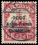Lot n° 4501 -  - TOGO 56 : 10pf. rouge obl. LOME 22/1/15, TB. S
