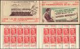 Lot n° 2199 -  - 813-C2    Gandon, 15f. rouge, n°813b, T II, S. 3, LOTERIE NATIONALE, n°94780 daté 9/11/50, TB