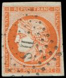 Lot n° 98 -  - 5    40c. orange, obl. Los. romain DS, TB/TTB