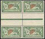Lot n� 1737 - ** - 207   Merson, 10f. vert et rouge, BLOC de 4 interp., excellent centrage, Superbe
