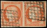 Lot n° 107 -  - 5a   40c. orange VIF, PAIRE obl., TB