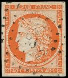 Lot n° 106 -  - 5a   40c. orange VIF, obl. Los. DS2 romain, TB. Br