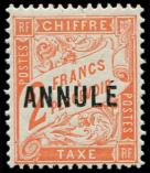 Lot n° 2061 - * - Taxe 41-CI 1 2f. vermillon, surch. ANNULE, TB