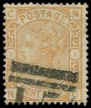 Lot n� 4658 -  - GRANDE BRETAGNE 61 : 8p. orange, obl., TB