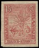 Lot n° 3967 - * - MADAGASCAR 68 : 15c. rose, NON DENTELE, TB, cote Maury