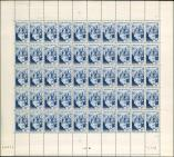 Lot n� 1713 - ** - 805   Conques, 18f., FEUILLE de 50, TB