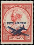 Lot n� 4311 - ** - MONACO PA 14b : 100f. rouge, surch. DOUBLE, RR, TB