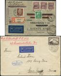Lot n� 4694A - <span><img src='https://www.ceres.fr/img/ImgLet.jpg' height=14 width=18 alt='Let' border='0'></span> - --- EMPIRE 2 lettres 1928/32 dont 1 Zeppelin, TB