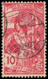 Lot n� 4866 -  - SUISSE 87 : 10c. rouge, RECTO-VERSO, obl., TB
