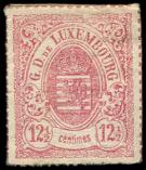 Lot n� 4827 - * - LUXEMBOURG 18 : 18 1/2 rose, PERCE en LIGNES, TB